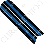 93-13 Saddlebag Latch Reflector Covers - Blue Line