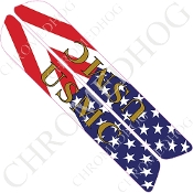 93-13 Saddlebag Latch Reflector Covers - USMC - US Flag