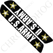 93-13 Saddlebag Latch Reflector Covers - Army Stars 2