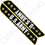 93-13 Saddlebag Latch Reflector Covers - Army Stars 3