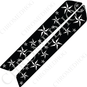 14-Up Saddlebag Latch Reflector Covers - Star - White Multi
