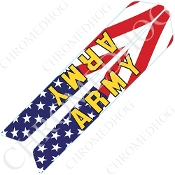 14-Up Saddlebag Latch Reflector Covers - Army - US Flag
