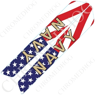 14-Up Saddlebag Latch Reflector Covers - Navy - US Flag
