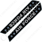 14-Up Saddlebag Latch Reflector Covers - USAF - Stars