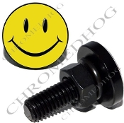 Sm Black Billet License Plate Bolts - Smile Face