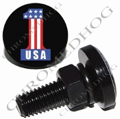 Sm Black Billet License Plate Bolts - #1 USA Black