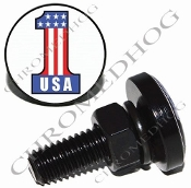 Sm Black Billet License Plate Bolts - #1 USA White