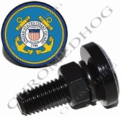 Sm Black Billet License Plate Bolts - Coast Guard