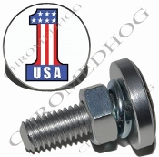 Sm Silver Billet License Plate Bolts - #1 USA White