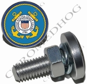 Sm Silver Billet License Plate Bolts - Coast Guard