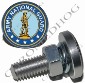 Sm Silver Billet License Plate Bolts - Army National Guard
