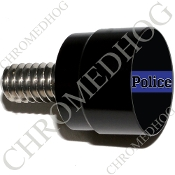 Twin Cam Air Cleaner Bolt - S SM Black Billet Blue Line - Police