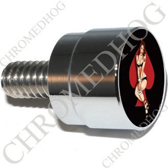 Twin Cam Air Cleaner Bolt - S SM Chrome Billet Pin Up Spade - RB