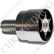 Twin Cam Air Cleaner Bolt - S SM Chrome Billet Sheriff Badge - B