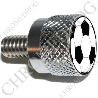 Twin Cam Air Cleaner Bolt - S KN Chrome Billet Soccer Ball - NS