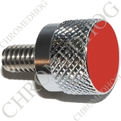 Twin Cam Air Cleaner Bolt - S KN Chrome Billet Solid - Red
