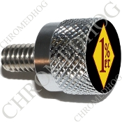 Twin Cam Air Cleaner Bolt - S KN Chrome Billet 1%er - YDBR