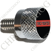Twin Cam Air Cleaner Bolt - S KN Chrome Billet Red Line - FF