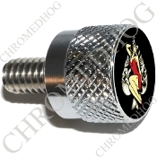 Twin Cam Air Cleaner Bolt - S KN Chrome Billet Pin Up - Sk Spade