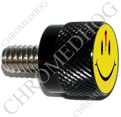 Twin Cam Air Cleaner Bolt - S KN Black Billet - Smile Shot