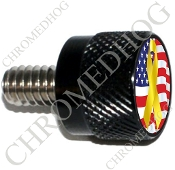 Twin Cam Air Cleaner Bolt - S KN Black Billet Ribbon - Y/Flag
