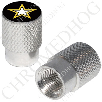 Knurled Valve Stem Caps - Army Star - 2