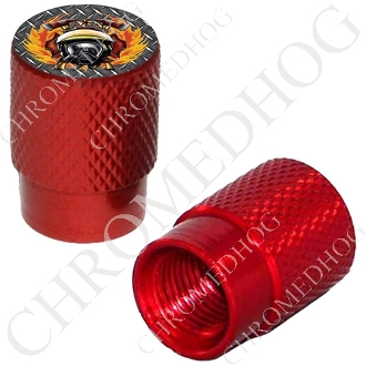 Knurled Valve Stem Caps - Fire Fighter DP - 2