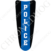 03-07 Ultra Classic CB Dash Insert Decal - Blue Line Police V