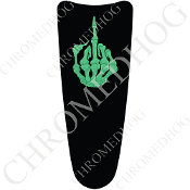 03-07 Ultra Classic CB Dash Insert Decal - Finger FU Green/Black
