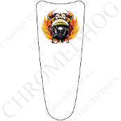 03-07 Ultra Classic CB Dash Insert Decal - Fire Fighter NT White