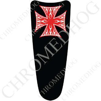 03-07 Ultra Classic CB Dash Insert Decal - Iron Cross WFRB