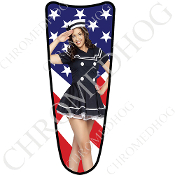 03-07 Ultra Classic CB Dash Insert Decal - Pin Up Navy US Flag