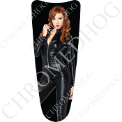 03-07 Ultra Classic CB Dash Insert Decal - Pin Up Redhead Black
