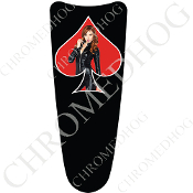 03-07 Ultra Classic CB Dash Insert Decal - Pin Up Redhead SRB