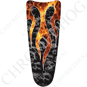 03-07 Ultra Classic CB Dash Insert Decal - Skull Flame Real/Gray