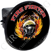 Tow Hitch Cover - Fire Fighter - Black T