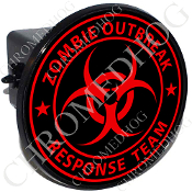 Tow Hitch Cover - Zombie Outbreak - Red/ Black