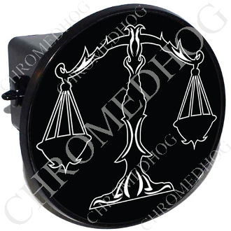 Tow Hitch Cover - Zodiac - Libra - W/B