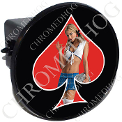 Tow Hitch Cover - Pin Up Spade - School - Red/Black