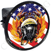 Tow Hitch Cover - Fire Fighter - US Flag NT