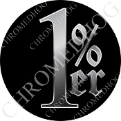 Premium Round Decal - 1%er - Black