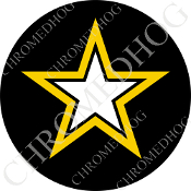 Premium Round Decal - Army Star