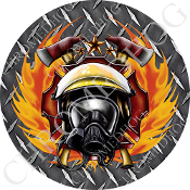 Premium Round Decal - Fire Fighter - DP