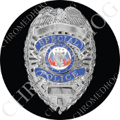 Premium Round Decal - Special Police Badge - B1