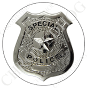 Premium Round Decal - Special Police Badge - W2