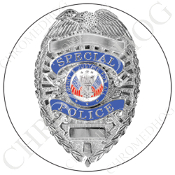 Premium Round Decal - Special Police Badge - W1