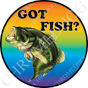 Premium Round Decal - Bass - Got Fish?