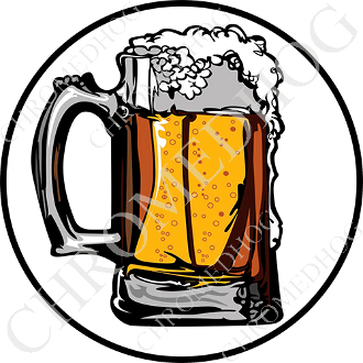 Premium Round Decal - Beer Mug