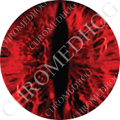 Premium Round Decal - Zombie Demon Eye