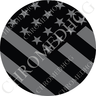 Premium Round Decal - Flag - Ghost USA